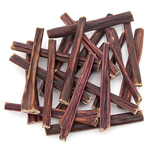 GigaBite Best Pet Supplies FDA & USDA Certified Free Range Bully Taffy Esophagus Gullet Sticks Dog Treats - 6 Inch, Pack of 20