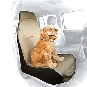 Kurgo Waterproof CoPilot Car Seat Cover for Bucket Seats, Hampton Sand Khaki - Lifetime Warranty