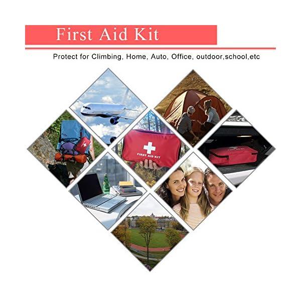 Botiquín de Primeros Auxilios de 180 Piezas WEINAS® Kit de Primeros Auxilios Súper Compacto y Profesional para Hogar… 5