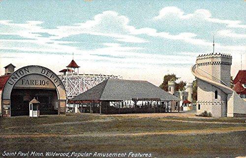 Saint Paul Minnesota Widlwood Amusement Park Antique Postcard K51311
