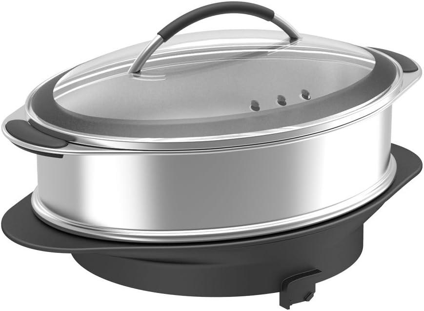 Magimix 17277 batidora y accesorio para mezclar alimentos - Accesorio procesador de alimentos (Steam cooker, 5,5 L, Negro, Acero inoxidable, Acero inoxidable, 402 mm, 263 mm): Amazon.es: Hogar