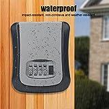 T-best Key Storage Lock Box, 4-Digit Combination Lock Box Wall Mounted Key Box Safe Security Storage Case for House Keys or Car Keys