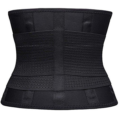 FOUMECH Women's Waist Trainer Belt-Waist Cincher Trimmer-Slimming Body Shaper Belt-Sport Girdle Belt (Black, Large) Photo #6