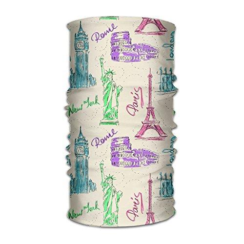 Price comparison product image Hong Yi Fang Big Ben Eiffel Tower Colosseum Statue Of Liberty-01 Unisex Bandanas Balaclava Cap Turban Headscarf Sweatband Headwear Headscarf