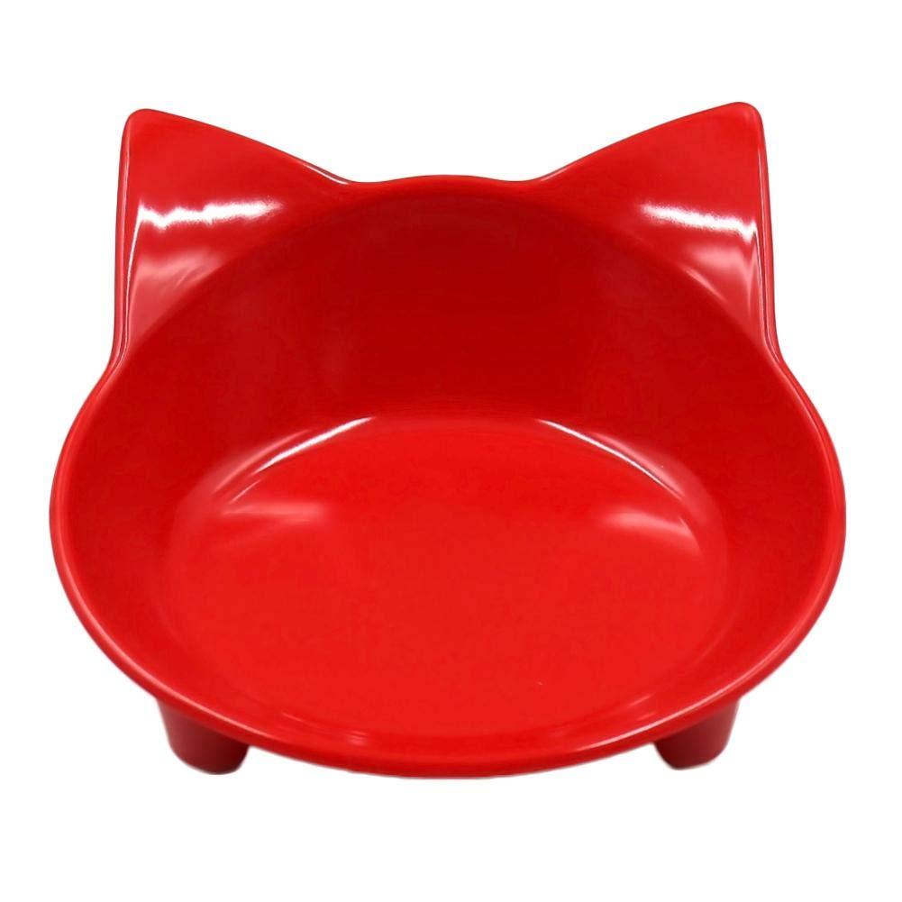 Cat-shaped Gamelle pour petit à Moyen chat chien - A5 mélamine de qualité alimentaire - Portable Bol de nourriture pour animaux Beatie