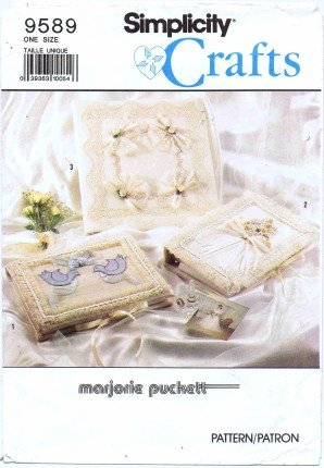 Sewing Book Covers (Simplicity 9589 Crafts Sewing Pattern Marjorie Puckett Fabric Book)