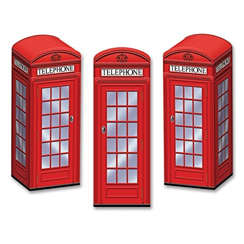 Beistle 54121 Phone Box Favor Boxes, 3 by 81/2-Inch (Value 3-Pack) ()