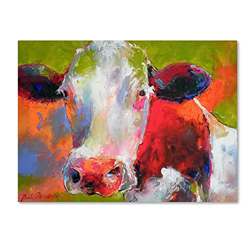 Art Cow by Richard Wallich, 18x24-Inch Canvas Wall -