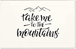Free Brand Wood Sign - Take Me to The Mountains Farhouse Decor Rustic Print Wood Wall Signs