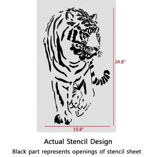 J BOUTIQUE STENCILS Wall Stencils Tiger Larege stencil Template for Wall Graffiti Canvas art DIY
