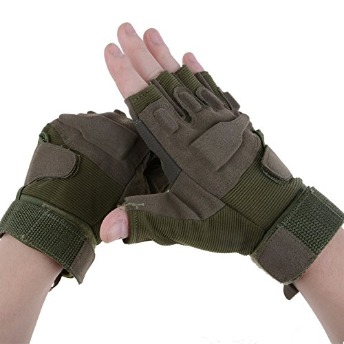 Happylife12 Anti-skidding Wear-resistance Sport Cycling Gloves (Army Green, XL)