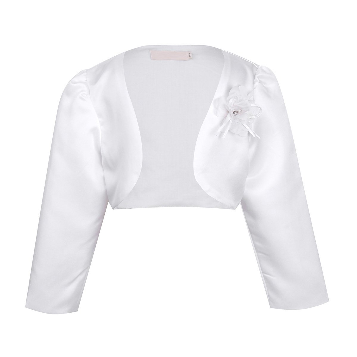 iEFiEL Girls Long Sleeves Bolero Jacket Shrug Short Cardigan Sweater Dress Cover Up Off-White 18-24 Months