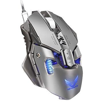 Juego Ratón RGB, Xergur 12 DPI Modo Programable 9 Botones Retroiluminado Óptico USB Con Cable