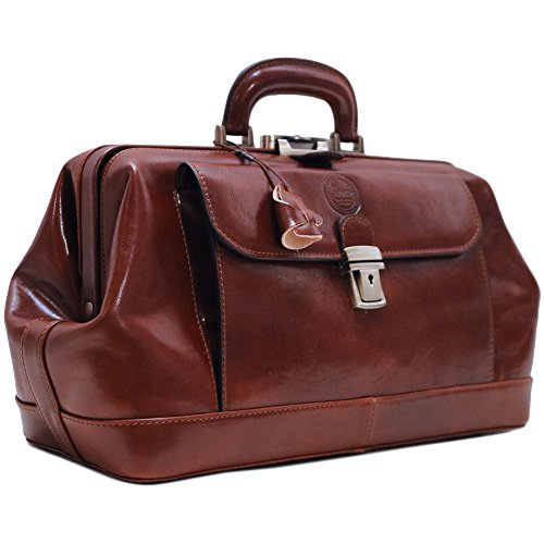 Small Doctor Bag - Cenzo Leather Doctor Bag