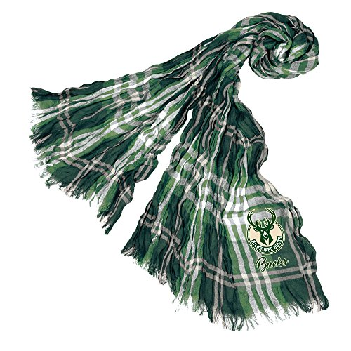 Littlearth NBA Milwaukee Bucks Sheer Infinity Plaid Scarf by Littlearth