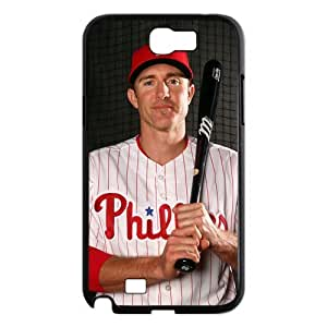 Professional MLB Player-Chase Utley of Philadelphia Phillies Image Design for Samsung Galaxy Note 2 N7100 Hard Case (black)