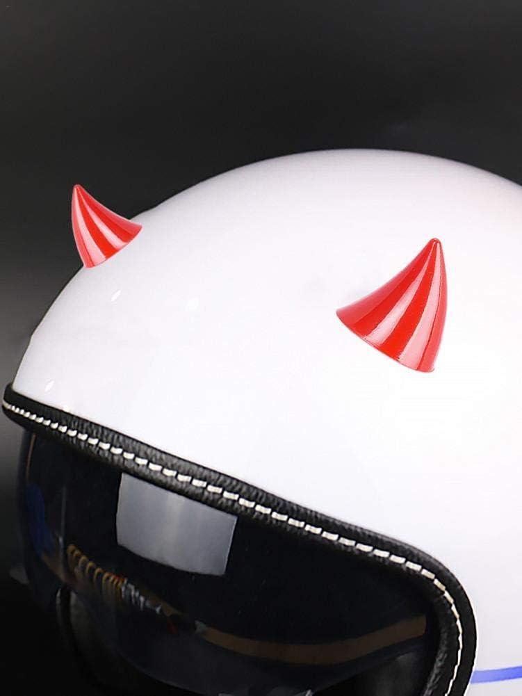 Jingolden Motorcycle Helmet Decoration Soft Horn Decoration Headwear Plastic Rubber Horn Corner Decoration Accessories 1.57 X 1.18in
