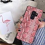 MISC Luxury Pink Snakeskin Galaxy S6 Edge Case Cobra Python Snake Skin Pattern Phone Cover Snake Texture Wild Animal Fashion Stylish Protective Shockproof Slim Soft, TPU