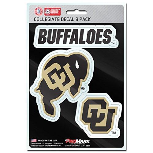 NCAA Colorado Buffaloes Team Decal, 3-Pack (Colorado Basketball)