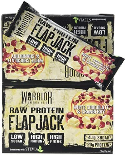 Raw Protein Flapjack, White Chocolate Cranberry - 12 bars