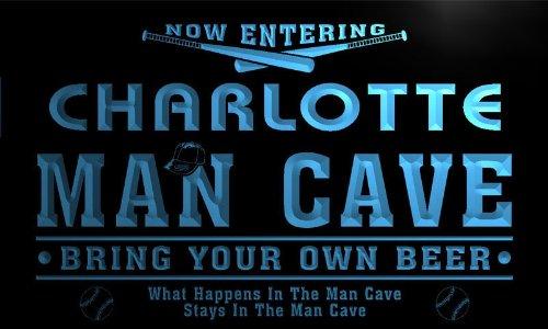 tate Cities Man Cave Baseball Bar Neon Beer Light Sign ()