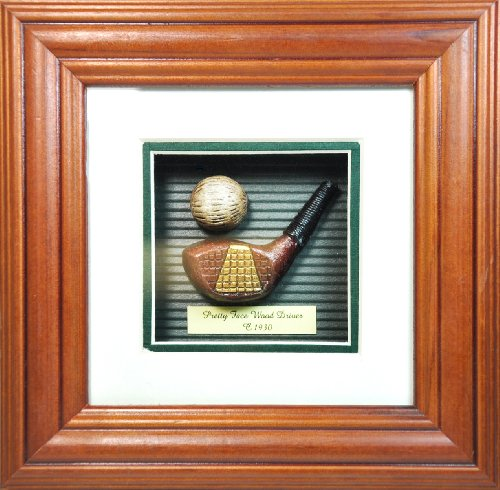 Pretty Face Wood Driver Shadow Box by - History Shadow Golf Box