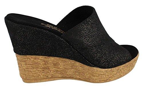 Image of Women's Onex, Charlie High Heel Wedge Sandal BLACK 6 M