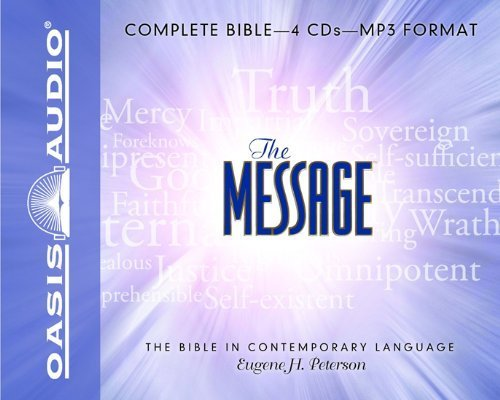 Mp3 Message (The Message Bible: Complete Bible by Eugene H. Peterson ( 2008 ) MP3 CD)