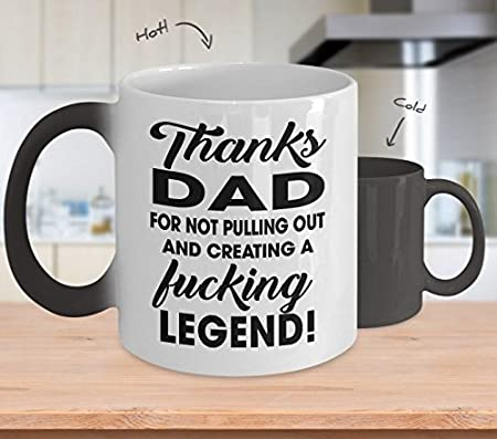 CENWA Funny Gift for Dad Dad Thanks for Not Pulling Out and Creating a Fucking Legend Kecycahin Legend Father Legend Dad Gift