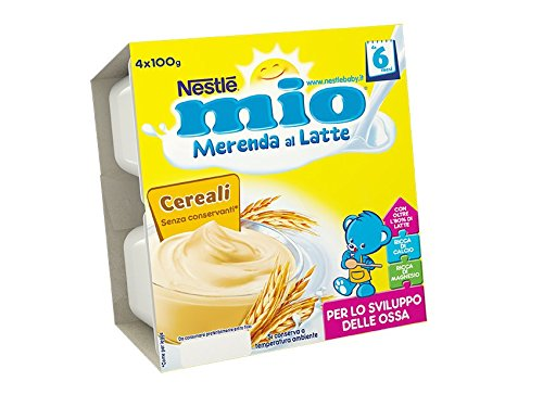 18 opinioni per Nestlé Mio Merenda al Latte Cereali da 6 Mesi 4 Vasetti Plastica da 100g