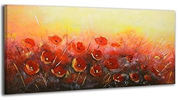 Ys Art Acryl Gemälde Blumenduft Handgemalt 115x50cm Wand Bild
