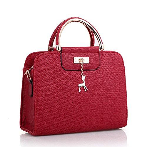 Moda AVERIL Spalla eleganza Borse tracolla a G rosso elegante Donna e Vino ZnwTB1SSHq