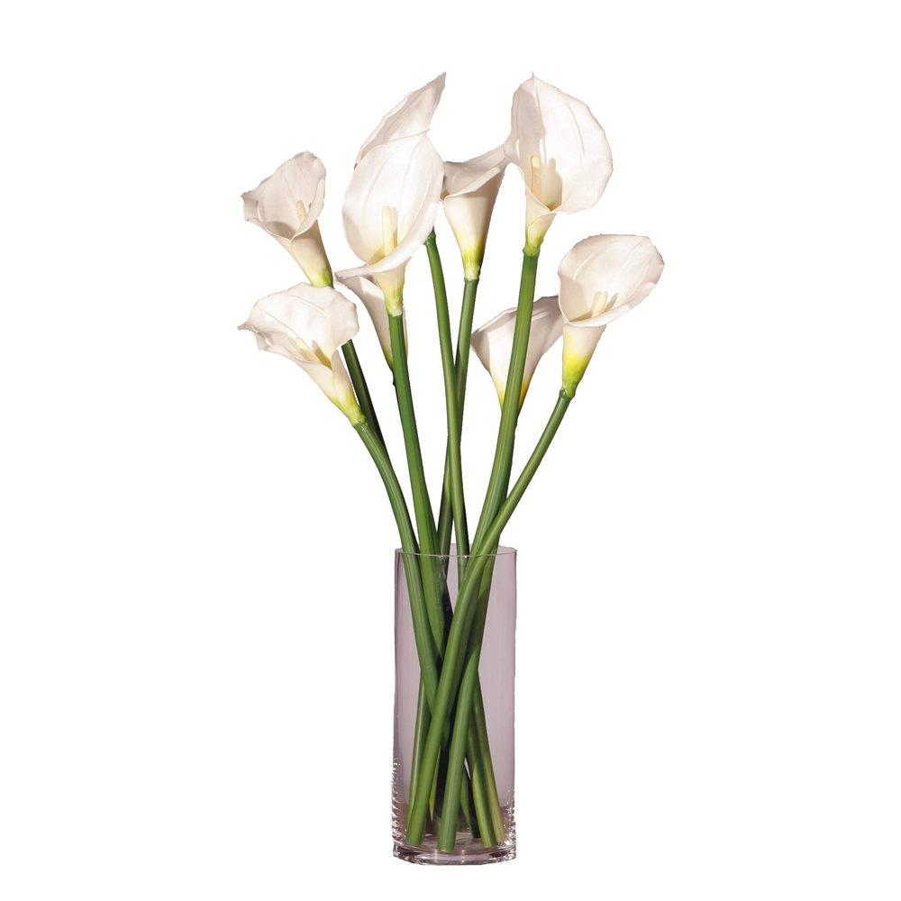 Vickerman F11102 Everyday Calla Floral, White, 24''