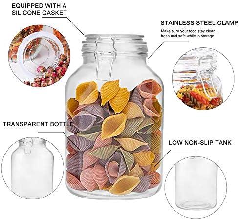 2er Set Glass Storage Jars Storage Jars Reservoir Tank 10x18cm 900ml