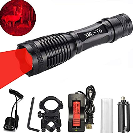 Vastfire Predator Varmint Light Red LED Long Rang Hunting Gear Hog w//20mm Mount