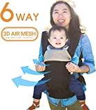 360 Ergonomic Baby Carrier - All Season Baby Sling - 6 Position, Easy Breastfeeding, No Infant Insert Needed, One Size Fits All - Adapt to Newborn, Infant & Toddler. Great Hiking Backpack Carrier