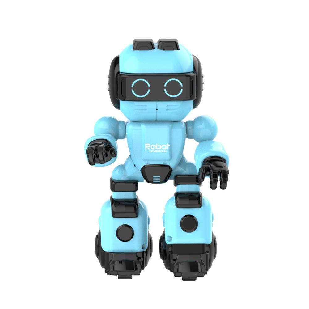 Ledu Intelligent robot, children\'s remote control intelligent puzzle story dancing cute pet companion robot boy girl toy early education machine,Pink