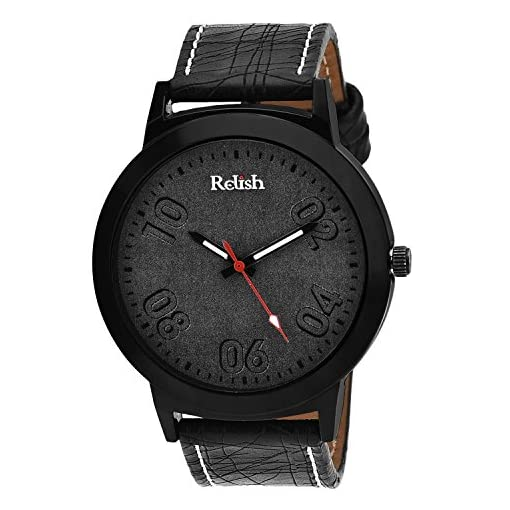 Relish Analogue Black Dial Mens Watch-Re-021Bt