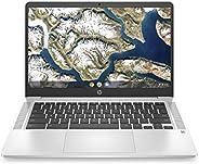 HP Chromebook 14-inch HD Laptop, Intel Celeron N4000, 4 GB RAM, 32 GB eMMC, Chrome (14a-na0010nr, Mineral Silv