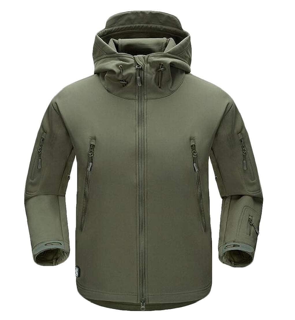 Jotebriyo Mens Warm Mountain Windproof Zipper Hooded Waterproof Jacket Coat