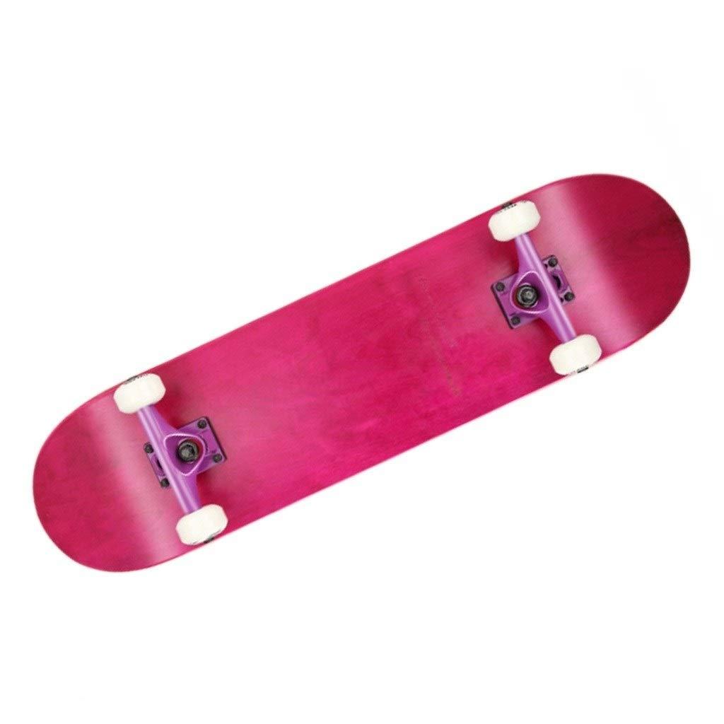 スケートボード スケートボードプロのバナナボード成人初心者四輪スケート男の子と女の子のストリートスクータースタントアクションスケートボードギフト (Color : ピンク, Size : 79*20.5*10cm) ピンク 79*20.5*10cm