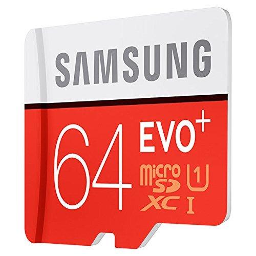 Samsung 64GB EVO Plus Class 10 Micro SDXC with Adapter 80mb/s (MB-MC64DA/AM) (Samsung Evo 64gb Microsdhc Class 10 Uhs 1)