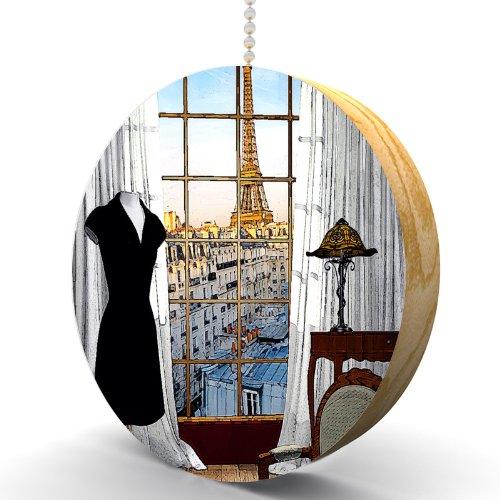 Bedroom in Paris Hardwood Oak Fan/Light Pull