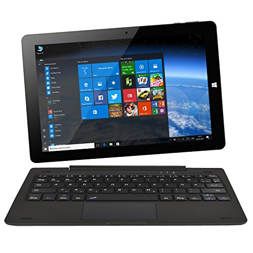 NINETEC Ultratab 10 Pro Convertible Tablet PC 2in1 Windows 10 + Android Ultradünnes Vollaluminium Gehäuse