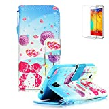 Samsung Galaxy S4 Mini i9190 Case [with Free Screen Protector],FunPlus Flip Magnetic PU Leather Wallet with Detachable Clip[Lanyard Strap] and [Card Holder] Style Case- Lovers