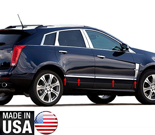 Made in USA! Works with 2010-2016 Cadillac SRX Lower Accent Body Side Molding Trim 1'' 8PC