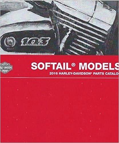 2017 Harley Davidson SOFTAIL MODELS Parts Catalog Manual NEW