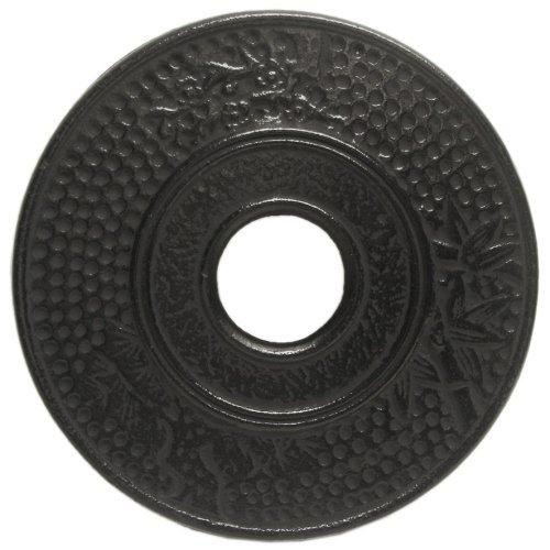 Old Dutch Matte Black Cast Iron Round Hobnail Trivet, 5.5 Inch ()