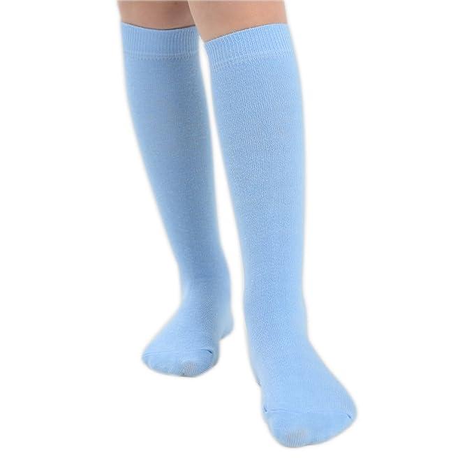 2 pares de bebé y niñas Betta rodilla alta calcetines diferentes colores y tamaños disponibles azul azul 23-26: Amazon.es: Ropa y accesorios