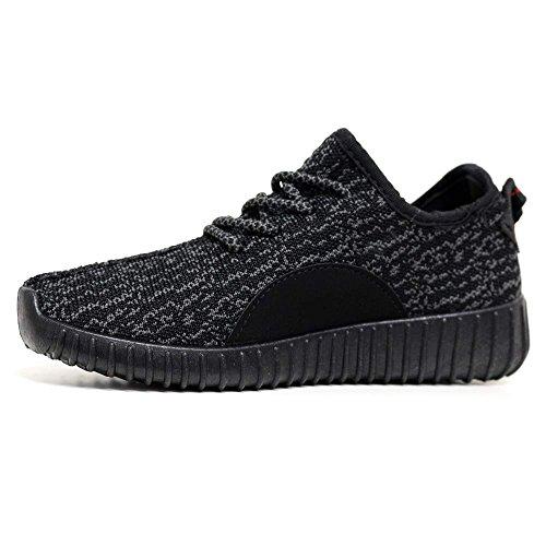 Señoras Corriendo Formadores Para Mujer Ejercicio Gym Nuevo Deportivo Inspirada Bombas De Zapatos Talla 3-8 Negro - negro